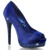 BELLA-12R Royal Blue Satin/Rhinestone